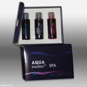 Coffret SPA balnéo relax ( AQUAcouleur ) Colorant éphémère Piscine - Aquarium - Spa